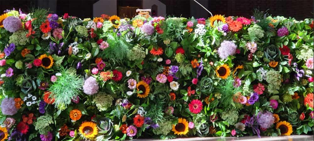 Ołtarz na Święto Wniebowzięcia Najświętszej Marii Panny u OO. Dominikanów w Warszawie 15 sierpnia 2020 fot JN
